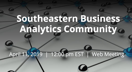 southeastern business analytics community web meeting