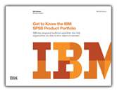 Get to Know the IBM SPSS Product Portfolio