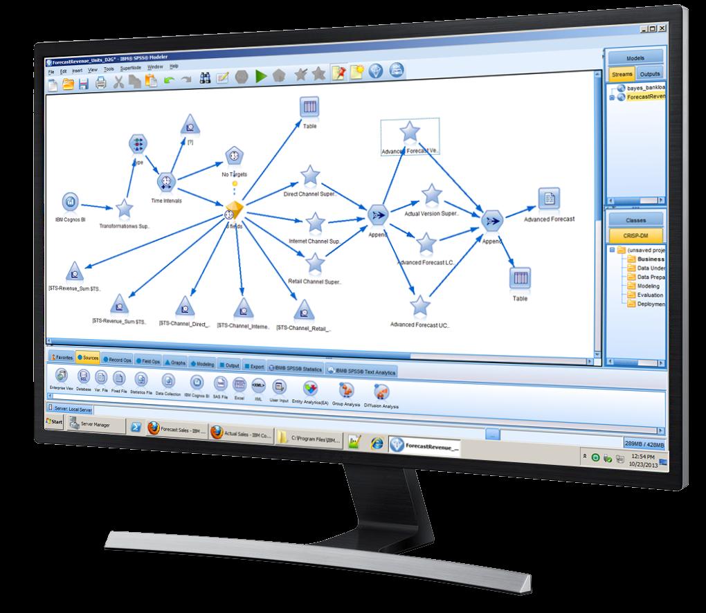 IBM SPSS screen