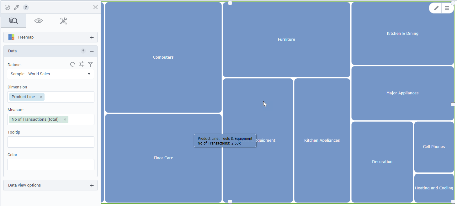 Treemap visualization (beta)