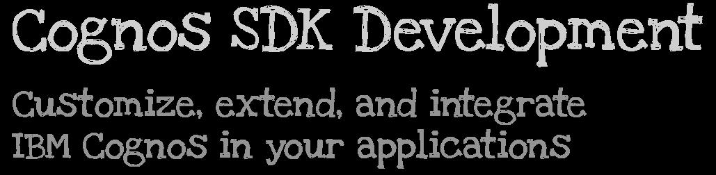 Cognos SDK Development