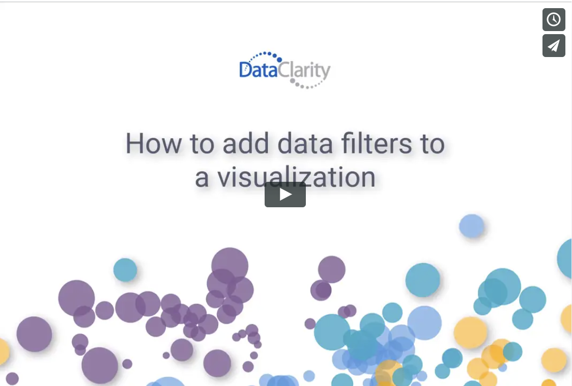 How to add data filters to a visualization