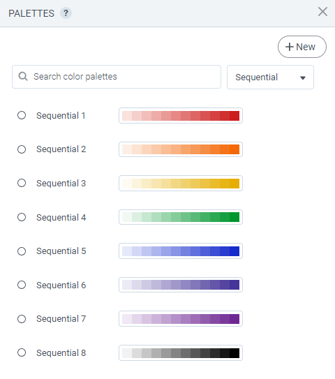 Filled Maps - Color palette 1