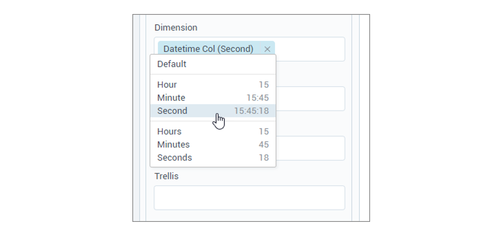 Default aggregation for Time columns