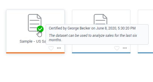 Certify datasets