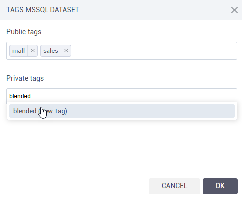Datasets tags