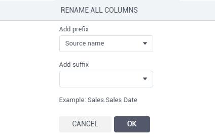Bulk rename columns