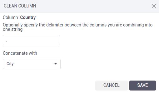 Concatenate columns