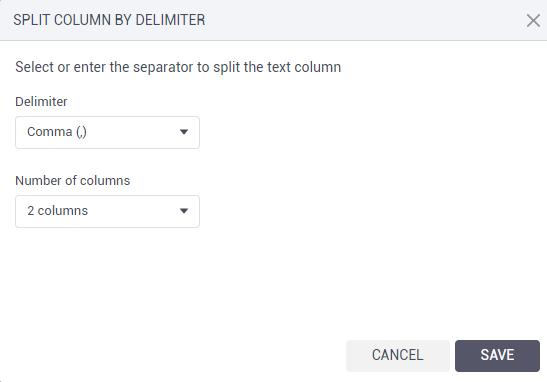 Split by delimiter