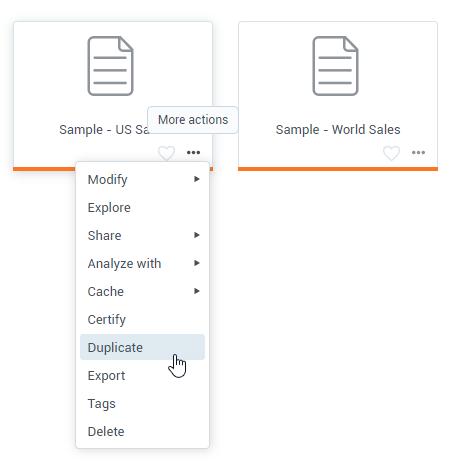 Duplicate Datasets